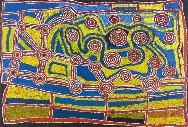 'Minyma Kutjara Tjukurrpa (Two Sisters)' IRR 05-202  acrylic on canvas 1370x2000mm