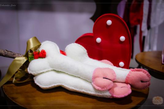 Chá de lingerie Oncinha com rosa