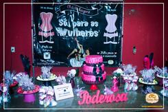 Chá de lingerie pink e black