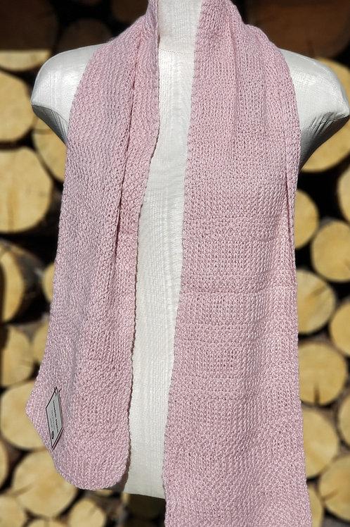Pink Alpaca/Silk Scarf