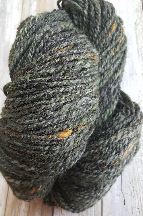 """Butte Irish"" 100% Handspun Alpaca Yarn-155 yds"
