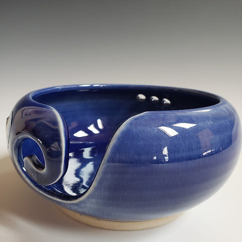 Cobalt Blue glazed Yarn Bowl