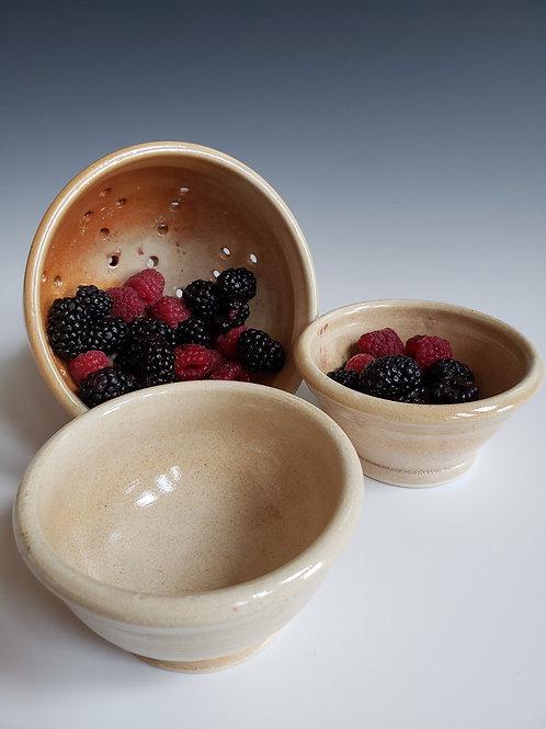 Shino Glazed Berry Bowl Set