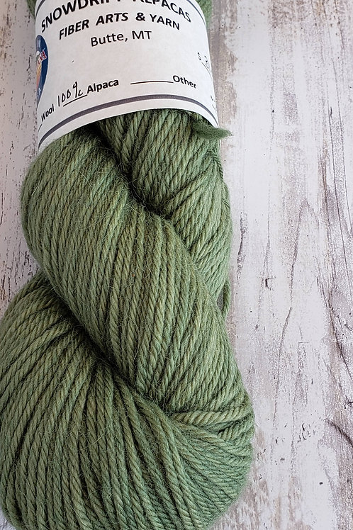 """Sage""  Hand dyed 100% Alpaca-commerical spun yarn"
