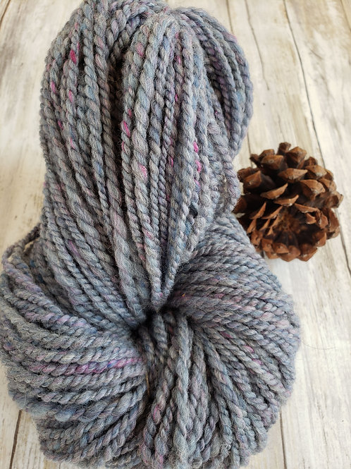 #1 Grey alpaca/wool/silk Hand spun Yarn