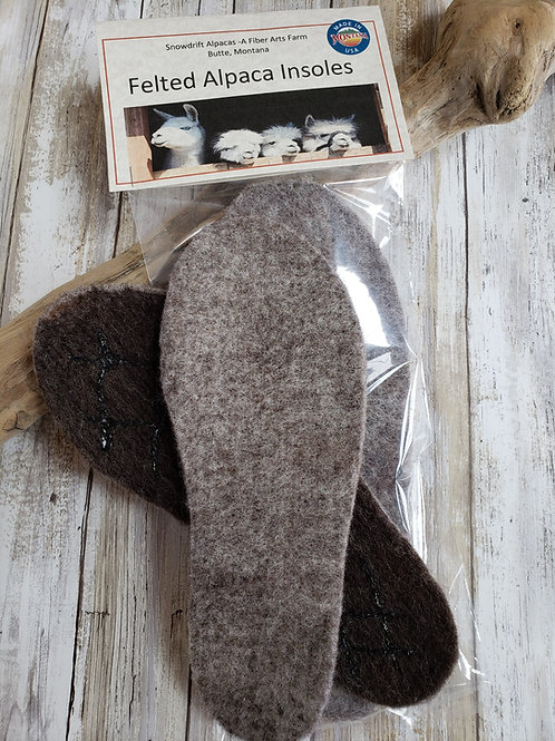 Felted Alpaca/Wool Insoles