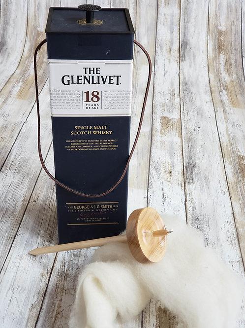 """The Glenlivet"" Scotch Bottle Tube Carriers"