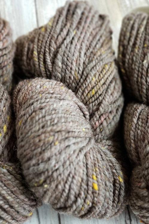 # 1 Rose Grey Handspun Alpaca/silk noil Yarn