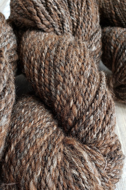 #2 For Him- Handspun Alpaca/Wool Yarn