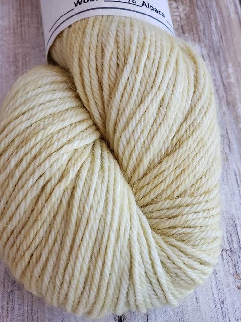 """Corn Silk"" Hand dyed 100% Alpaca-commerical spun yarn"