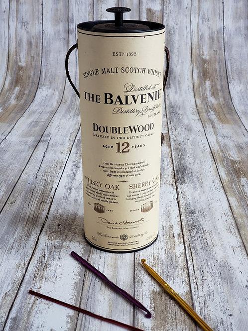 """The Balvenie"" Scotch Bottle Tube Carriers"