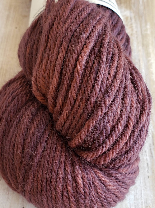 """Plums"" Hand dyed 100% Alpaca-commerical spun yarn"