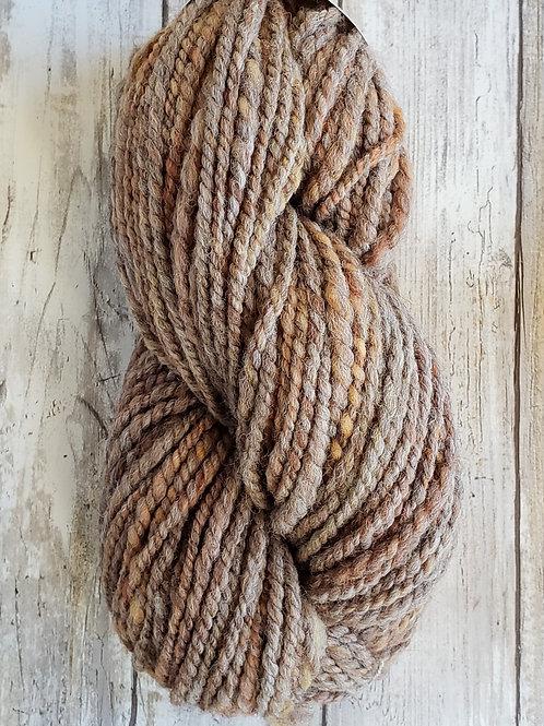 "#2 ""Hint of Autumn"" Handspun Alpaca/Wool Yarn"
