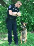 Officer Geiken and K9 Sully