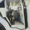 K-9 Dutch in the Patrol Car Kennel