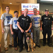 Officer Geiken and K-9 Sully at Med Plus