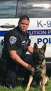 Officer Carpenter and K9 Kai