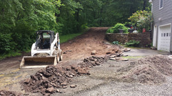 old driveway removal and grading
