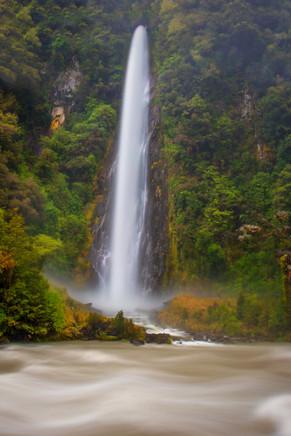 Thunder Creek Falls in New Zealand