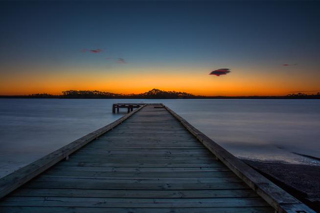 Sunset at Strahan in Tasmania