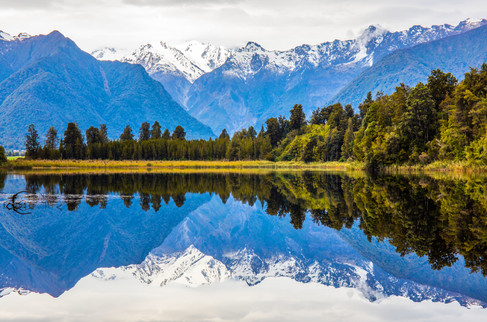 Perfect reflection at Lake Mathe