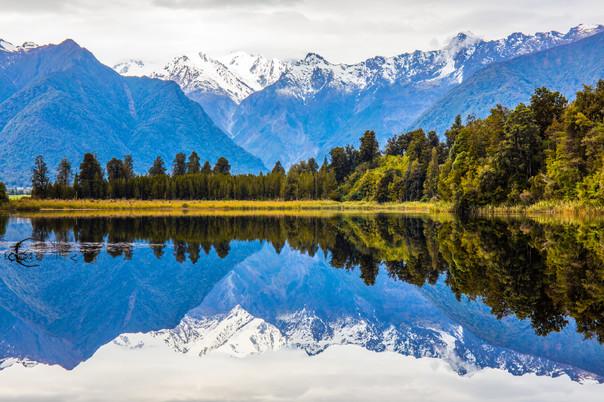 Perfect reflection at Lake Mathe