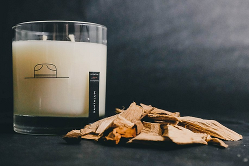 Santalum Scented Candle/Whiskey Glass