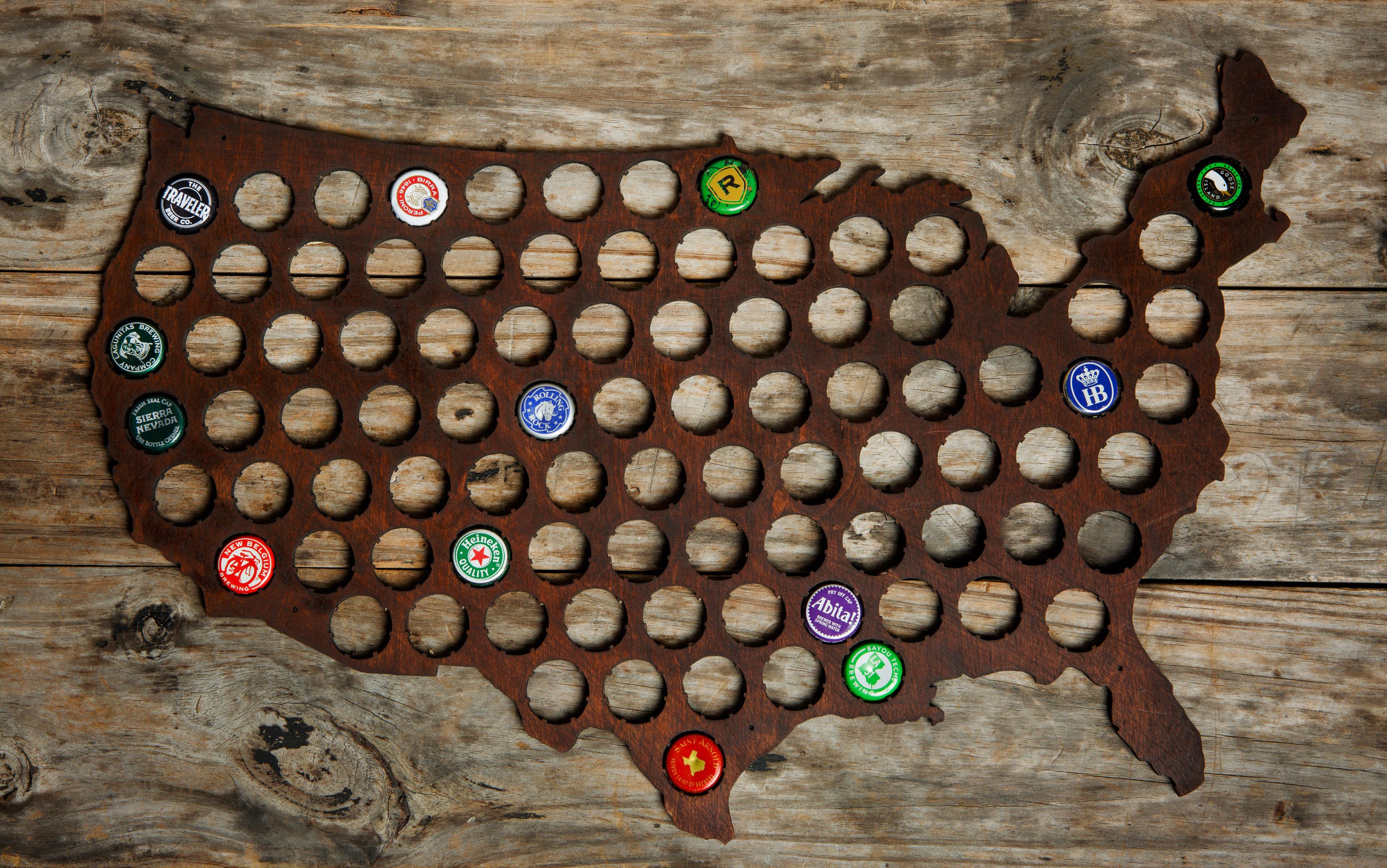 Bottle Cap Map