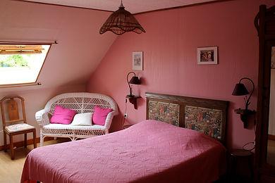 Chambre Fushia Le Moulin de Bretel