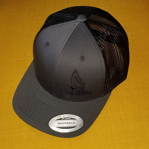 Classic Mesh Snap Back Hat - Charcoal