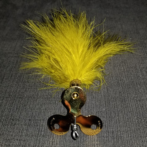 Trifecta Marabou Gold Green Olive