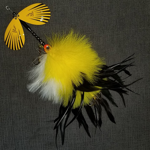 Yellow Angry Bird Keeled Big Feast