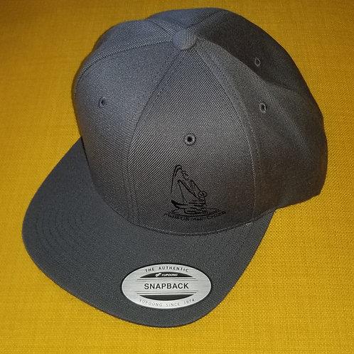 Flat Bill Hat - Charcoal