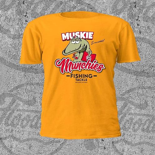 Munchies Fishing Tackle T-Shirt - Gold