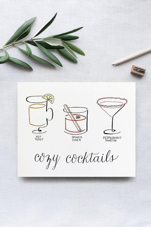 Cozy Cocktails Illustration