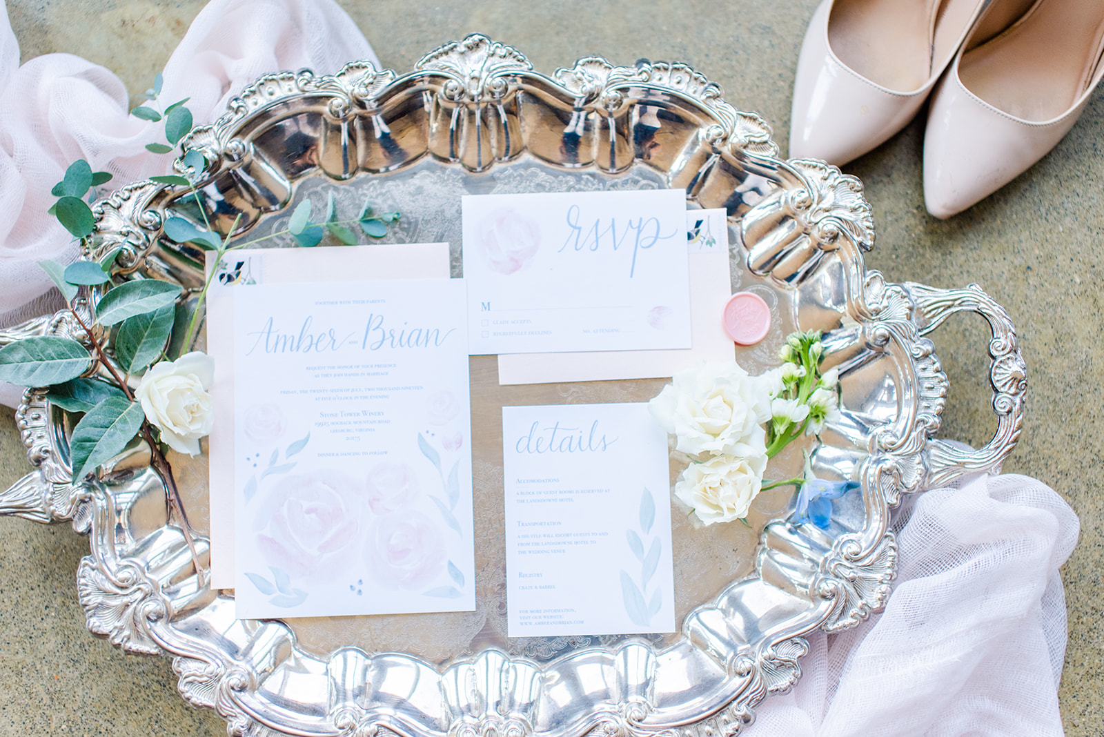 Ethereal Watercolor Invitation Suite