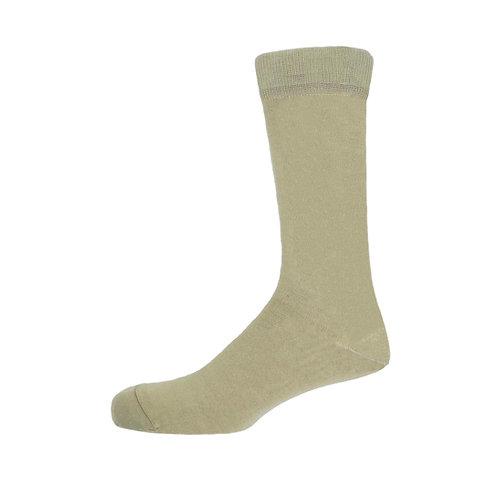 Beige Men's Plain Socks