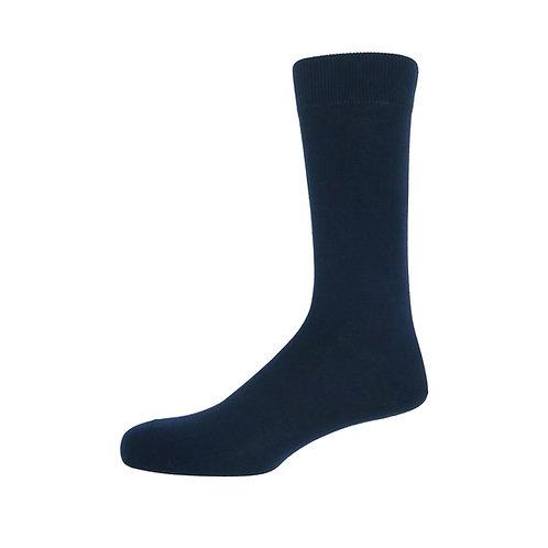 Navy Men's Plain Socks
