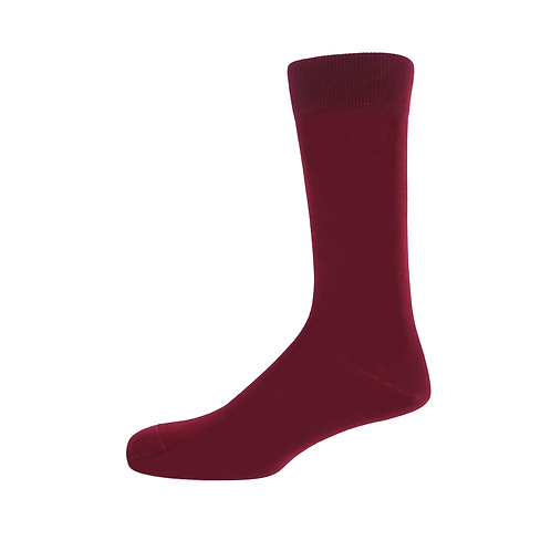 Burgundy Plain Men's Socks