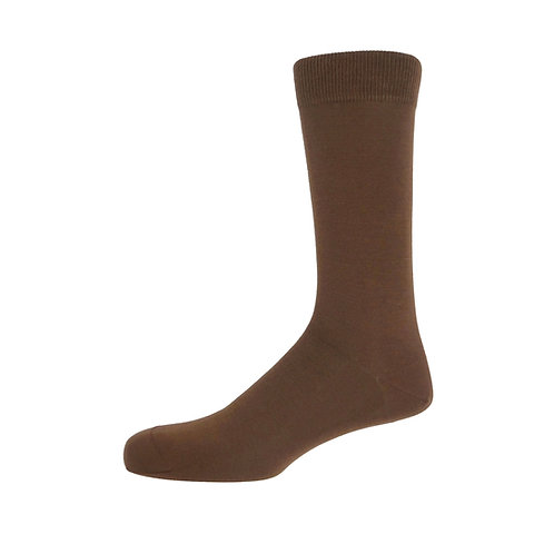 Brown Plain Men's Socks