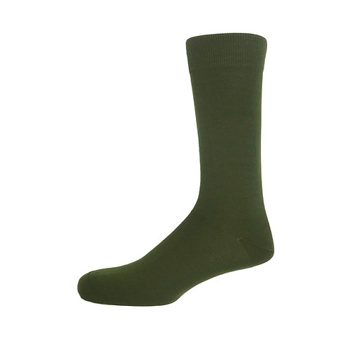 Green Plain Men's Socks