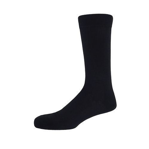 Black Plain Men's Socks