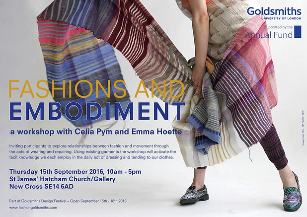 Fashions and Embodiment Workshop | goldsmithsfashion