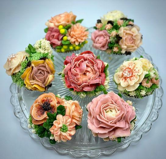 Gourmet Flower Cupcakes