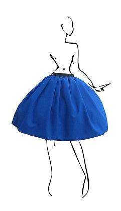 B.Polanec blue skirt set