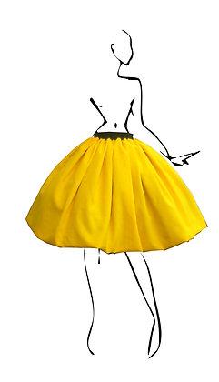 B.Polanec yellow skirt set