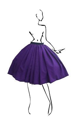 B.Polanec purple skirt set