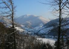 Blick auf den Belchen im Winter