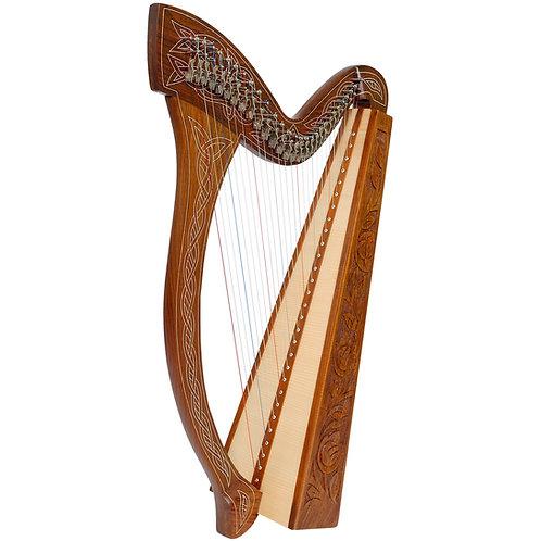 Boru 29 String Rosewood Harp