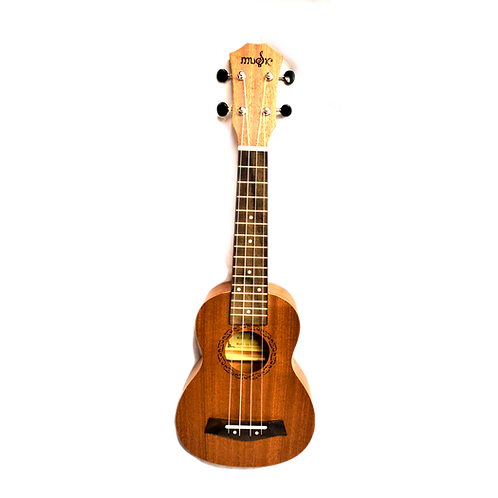 Music Solid Wood Soprano Ukulele